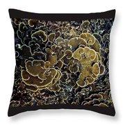 Spirals In Corals Throw Pillow