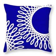 Spirals With Blue Throw Pillow