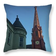 Spire Of Chinatown Throw Pillow