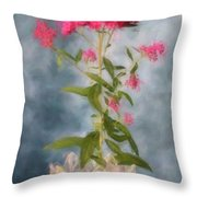 Spirea In Crystal Throw Pillow