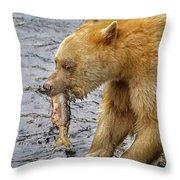 Spirit Bear Take Out  9636 Throw Pillow