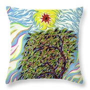 Spirit In The Tree Throw Pillow