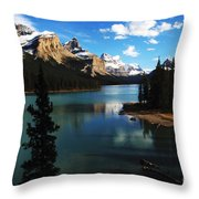 Spirit Island Jasper Canada Throw Pillow