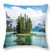 Spirit Island, Jasper National Park Throw Pillow
