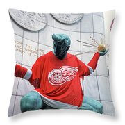 Spirit Of Detroit Throw Pillow