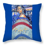 Spirit Of New Orleans/ 300 Years Throw Pillow