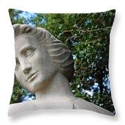 The Spirit Of Nursing Statue Up Close Throw Pillow