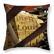 Spirit Of St Louis At Smithsonian Throw Pillow