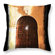 Spirit Of The Alamo With Framing Throw Pillow