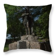Spirit Of The Confederacy Throw Pillow