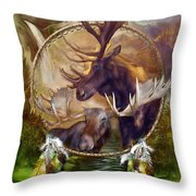 Spirit Of The Moose Throw Pillow