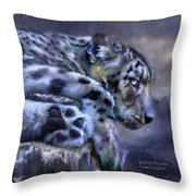 Spirit Of The Snow Throw Pillow