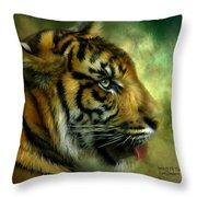 Spirit Of The Tiger Throw Pillow