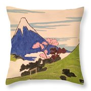 Spirit Of Ukiyo-e In The Light Of Shinto Throw Pillow