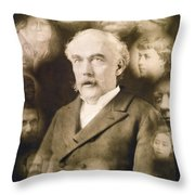 Spirit Photograph, C1901 Throw Pillow