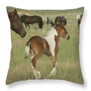 Spirit Run Throw Pillow