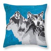 Spirited Pack Throw Pillow