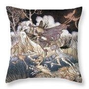 Spirits In Sleepy Hollow Throw Pillow by Granger