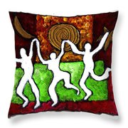 Spirits Of The Dance Throw Pillow