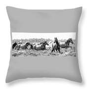 Spirits Of The Horse Throw Pillow by Jason Christopher