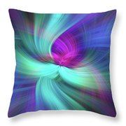 Spiritual Freedom. Mystery Of Colors Throw Pillow