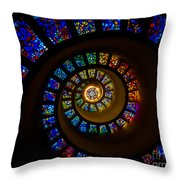Spiritual Spiral Throw Pillow by Inge Johnsson