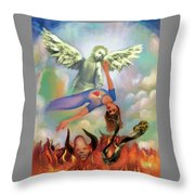 Spiritual Warfare Of Heart And Mind Throw Pillow