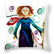 Spiritual Warrior Throw Pillow