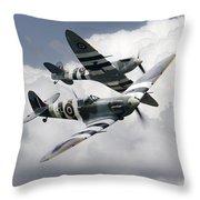 Spitfire Flying Legends Throw Pillow