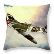 Spitfire Throw Pillow by Marc Stewart