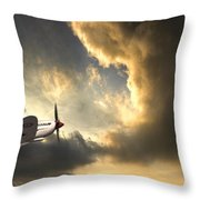 Spitfire Throw Pillow by Meirion Matthias