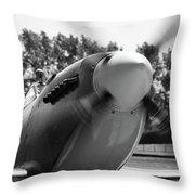 Spitfire Nose Throw Pillow