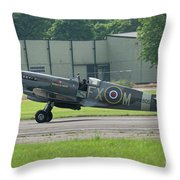 Spitfire On The Ground Throw Pillow