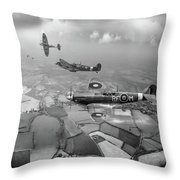 Spitfire Sweep Black And White Version Throw Pillow