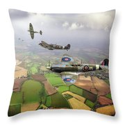 Spitfire Sweep Colour Version Throw Pillow