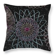 Spirograph 1010 Throw Pillow