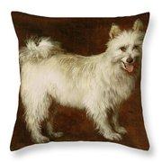 Spitz Dog Throw Pillow by Thomas Gainsborough
