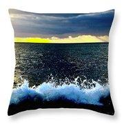 Splash At Sunset Throw Pillow