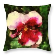 Splash Cerise Throw Pillow