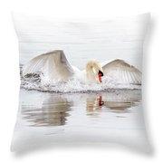 Splash Landing I Throw Pillow