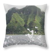 Splash North Shore Kauai Throw Pillow