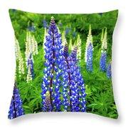 Splash Of Blue Throw Pillow