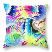 Splash Of Color Abstract Throw Pillow