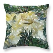 Splash Of Color In A Garden Throw Pillow