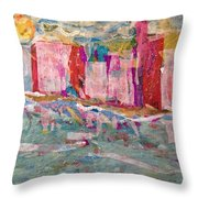 Splash Of Happy On A Hot City Day Throw Pillow