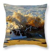 Splash Of Summer - Cape Cod National Seashore Throw Pillow