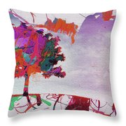 Splash Tree Art  Throw Pillow