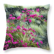 Splashes Of Pink Throw Pillow