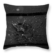 Splashes On Deck Throw Pillow
