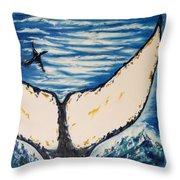 Ocean Tail Throw Pillow